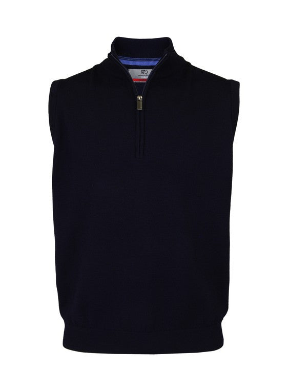 Merino Wool Half-Zip Slipover Vest - ProQuip Golf USA - Golf Apparel, Merino Wool Half-Zip Slipover Vest - Rain& Wind Gear