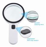 30X 12LED Lights High Magnification Magnifying Glass Double Lens