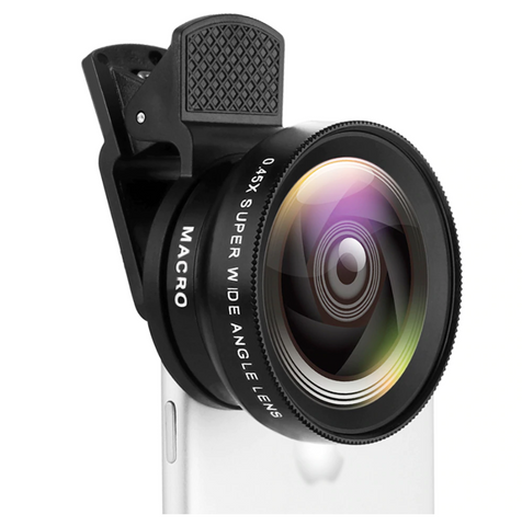 Wide Angle Lens for Phone & 12.5X Macro HD - Universal for iPhone Android Phone