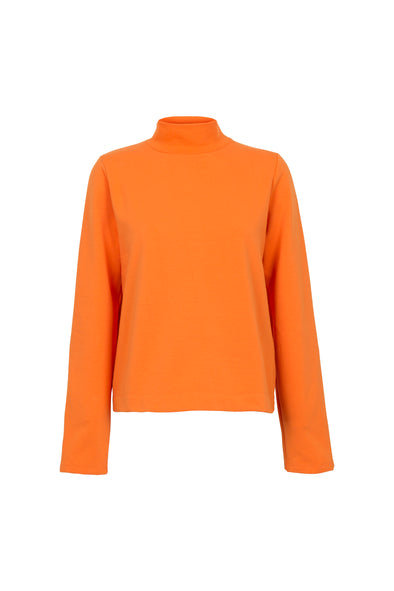 BY SIGNE Gathered Sleeve Sweat • Orange