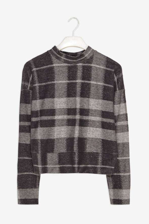 FRISUR Elin Jumper • Textured Plaid Check