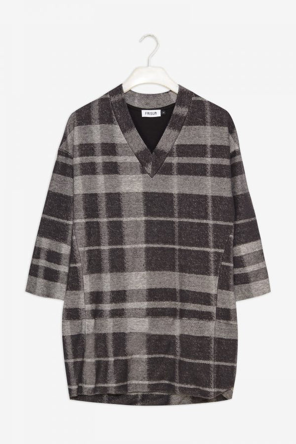 FRISUR Ingva Jumper • Textured Plaid Check