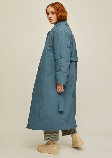 RITA ROW LEA Oversize Quilted Coat • Blue