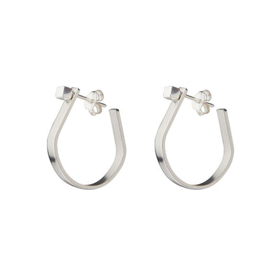 LOBOGATO •  Silver bar hoops