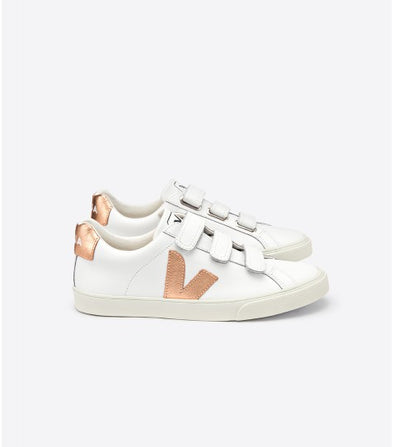 VEJA 3 Locks • Leather Extra White Venus