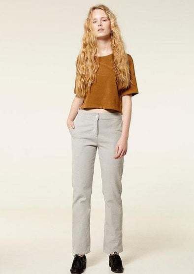 RITA ROW  Christine Pants • Grey Velveteen