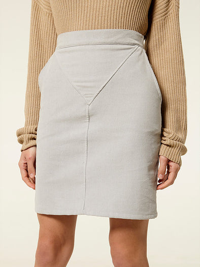 RITA ROW  Devone Skirt • Grey Velveteen