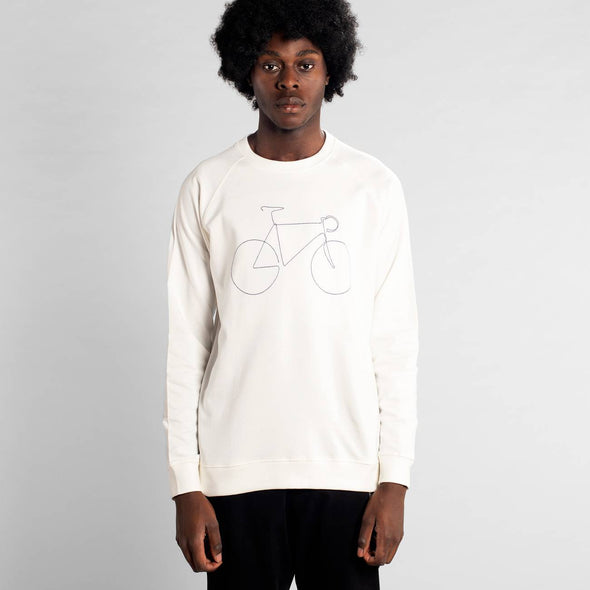 DEDICATED Malmoe Bicycle Sweatshirt • White
