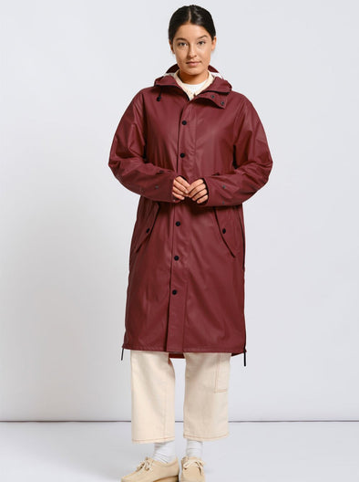 MAIUM Raincoat • Wine Red