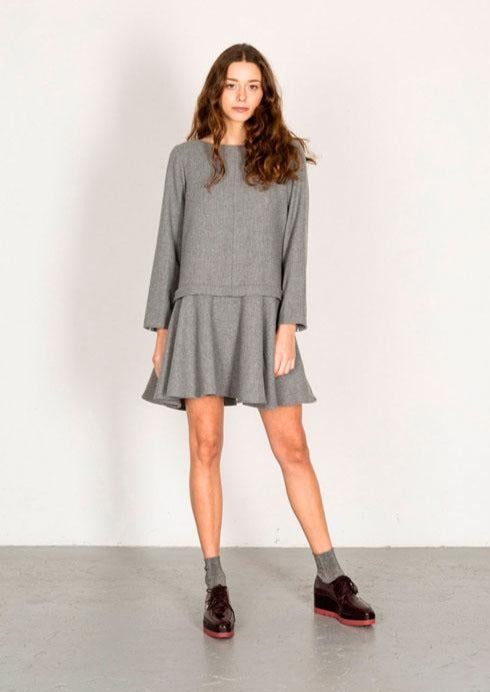 SUITE 13 Silbe Wool Dress • Grey
