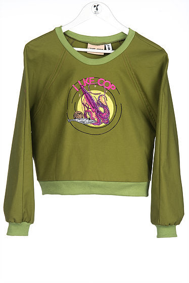 Ilke Cop Kraken Sweater • Moss Green