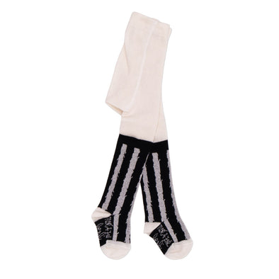 NOE & ZOE Tights • White Stripes