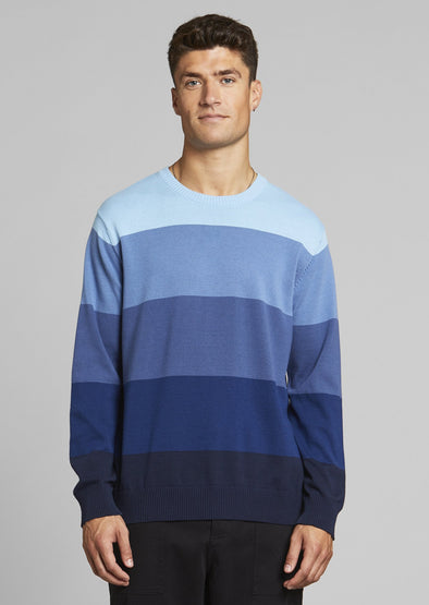 DEDICATED Mora Sweater • Blue Stripes