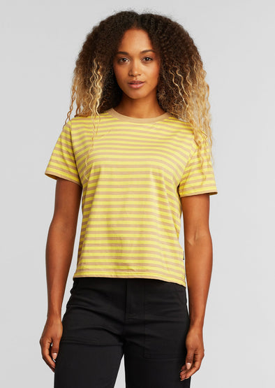 DEDICATED Mysen T-shirt • Stripes Yellow