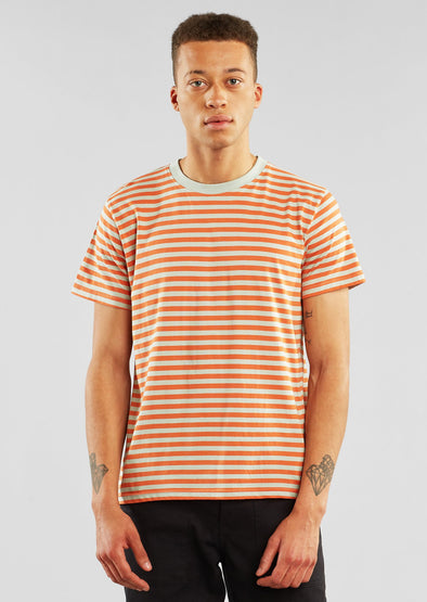 DEDICATED Stockholm T-Shirt • Stripes Orange