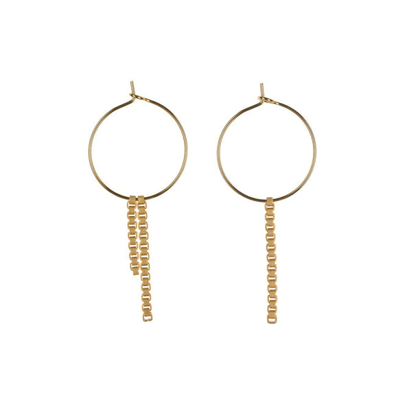 LOBOGATO • Gold plated box chain hoops