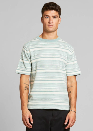 DEDICATED Short Sleeve Knitted T-shirt • Husum Mint