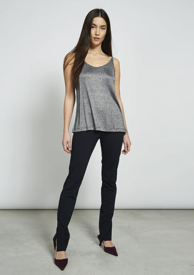 JAN 'N JUNE Sleeveless Top Triangle • Silvery Black