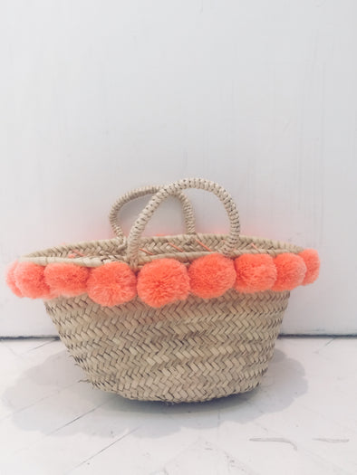 The Souks • Straw Bag Pompom