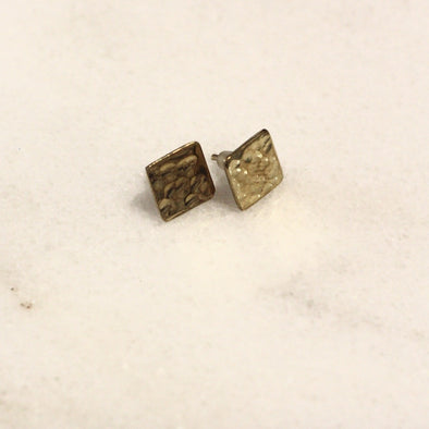 Mumkin Square Earring Brass • Small