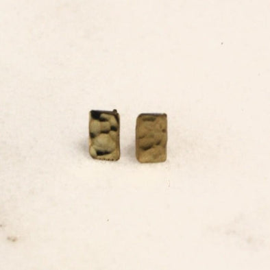 Mumkin Rectangular Earring Brass • Small