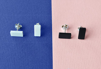 NIEF COLLECTIEF Earrings I Serie Mini • Black/White