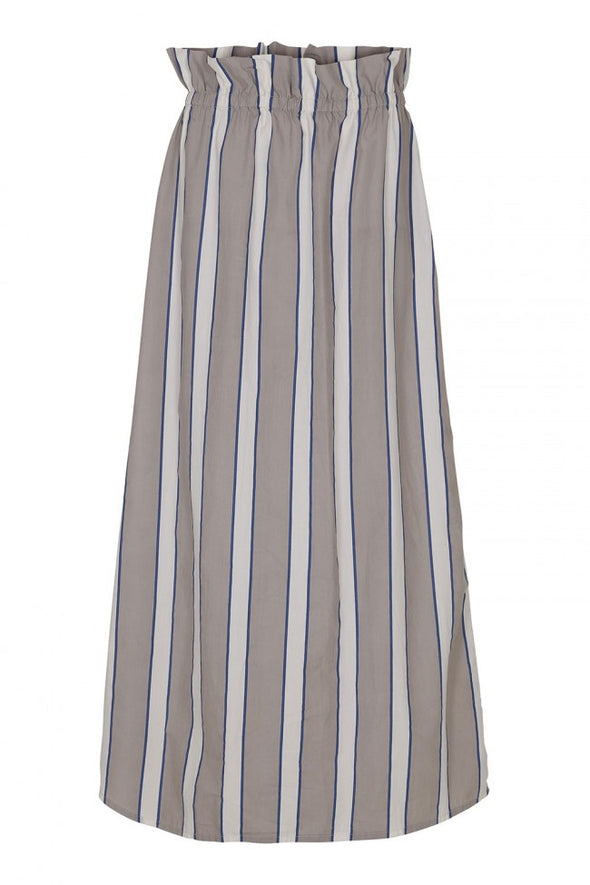 POP UP SHOP Poplin Long Skirt• Stripe