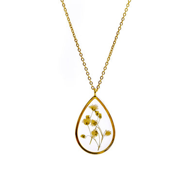 GROWING CONCEPTS Gold Necklace • Gypsophilia