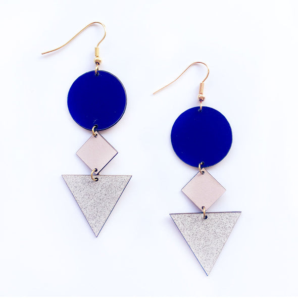 ALL THINGS WE LIKE Earrings • Memphis earrings blue & pink #1
