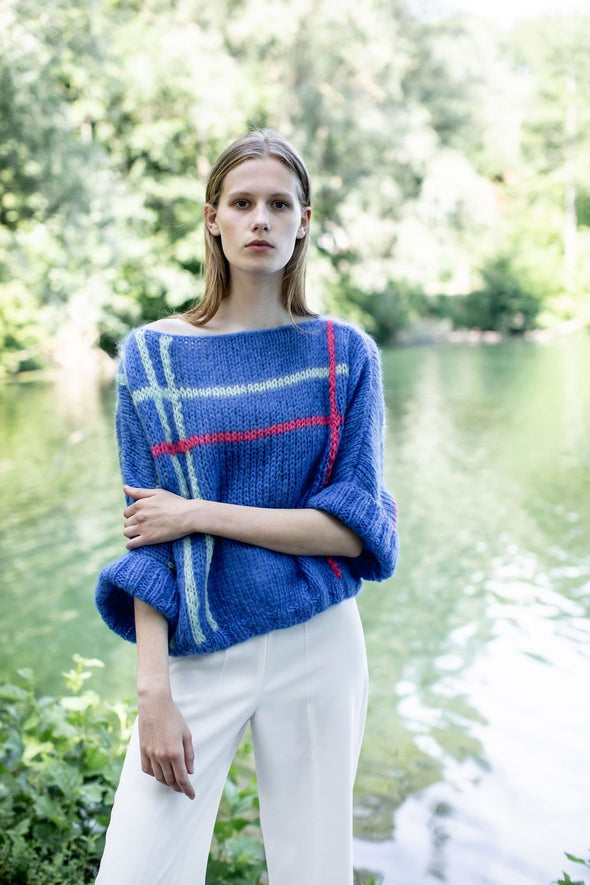 MADE BY VEST Elektra by Orfee Sweater • Cobalt Blue