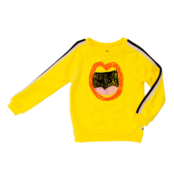 NOE & ZOE Sporty Sweater • Yellow