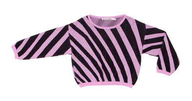 NOE & ZOE Zebra Sweater • Pink and Black