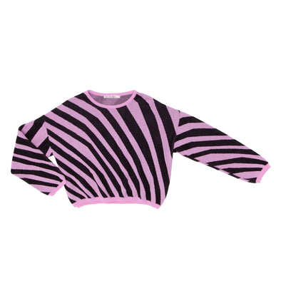NOE & ZOE MiniMe Zebra Sweater • Pink and Black