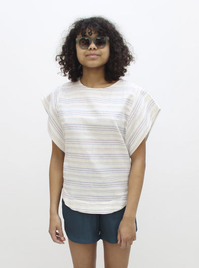 STUDIO JUX Batwing Top • Summer Stripe