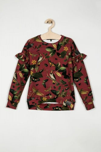 NO SUGAR Sweatshirt • Botanica Burgundy