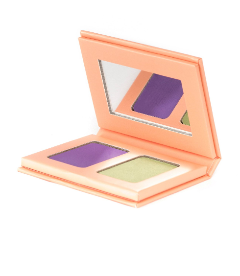 Go as u.r. Bright Eyeshadow • mystical violet - moss green