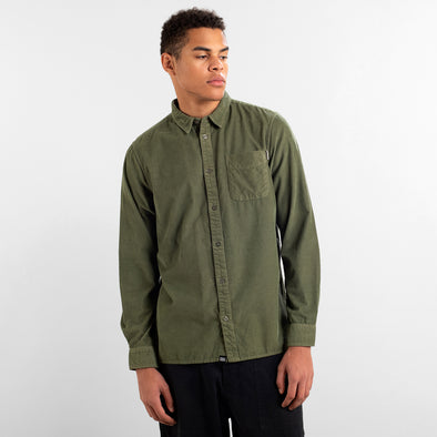 harvestclub-harvest-club-leuven-DEDICATED-Varberg-Corduroy-Shirt-Leaf-Green