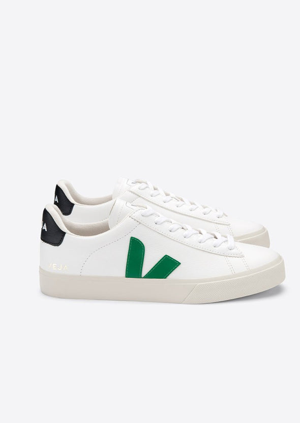 VEJA Campo Easy • Extra White Emeraude Black