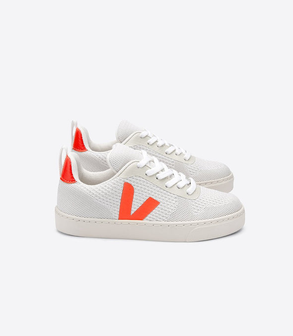 harvestclub-harvest-club-leuven-veja-junior-v-10-small-lace-mahla-cwl-branco-aluminho-orange-fluo