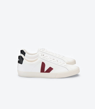 VEJA Esplar • Leather Extra White Marsala Black