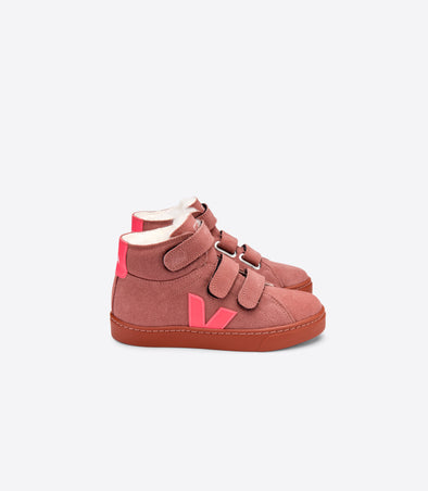 harvestclub-harvest-club-leuven-veja-junior-mid-esplar-small-velcro-fured-suede-dried-petal-rose-fluo