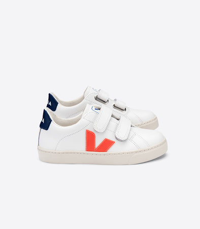 harvestclub-harvest-club-leuven-veja-kid-esplar-small-velcro-leather-extra-white-orange-fluo-cobalt
