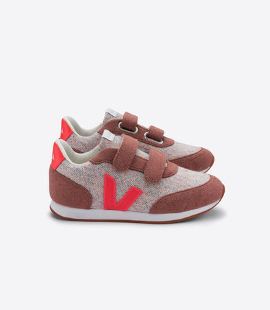 VEJA Junior Arcade • Flannel Cloudy Rose Fluo