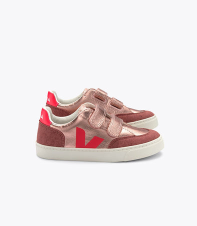 harvestclub-harvest-club-leuven-veja-kid-v-12-small-velcro-leather-nacre-rose-fluo