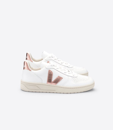 VEJA V-10 • Leather Extra White Nacre