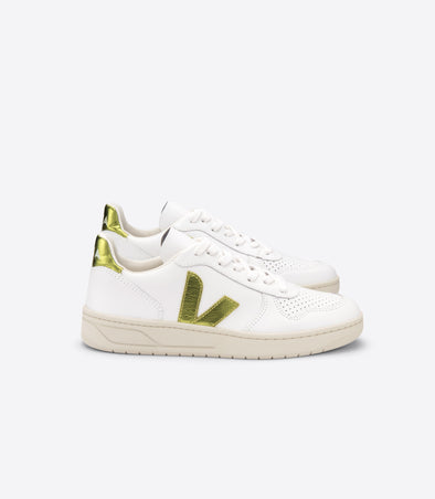 VEJA V-10 • Leather Extra White Pagi