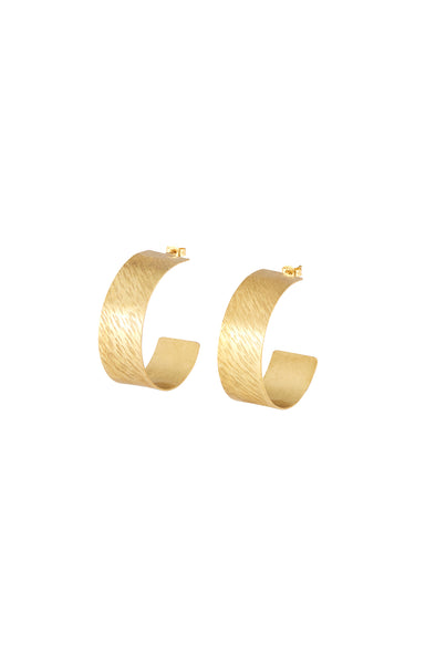 PEOPLE TREE Wide Hoop earrings • Brass 475