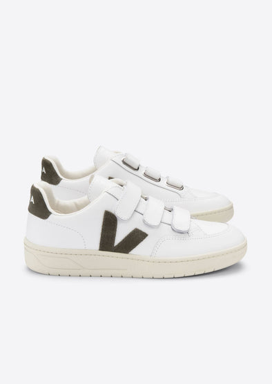 VEJA V-Lock • Leather Extra White Kaki