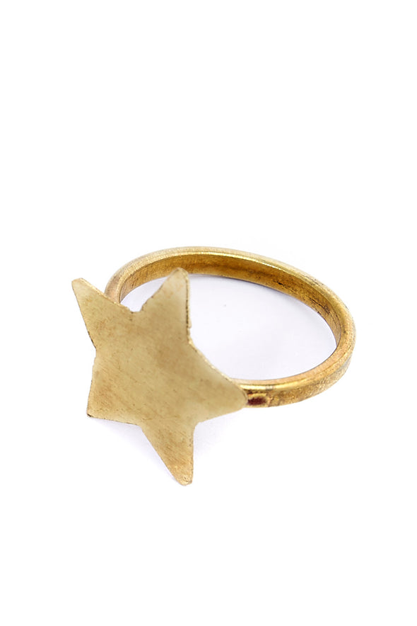 PEOPLE TREE Star Ring • Brass