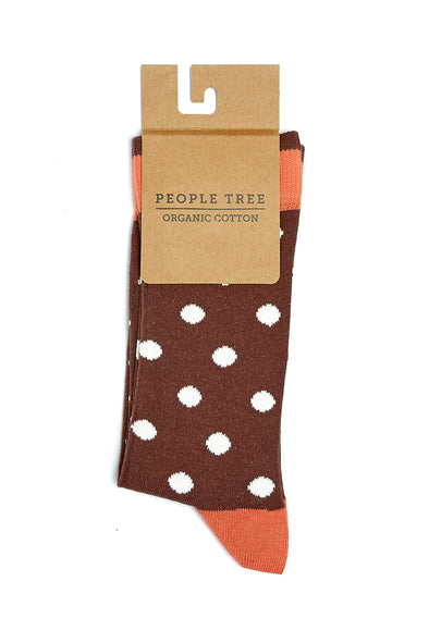 harvestclub-harvest-club-leuven-people-tree-polka-dot-socks-brown-multi